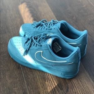 Suede blue Air Force 1s